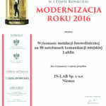 Diploma Modernization of the Year 2016